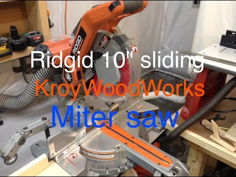 "Ridgid 10"" sliding miter saw review"