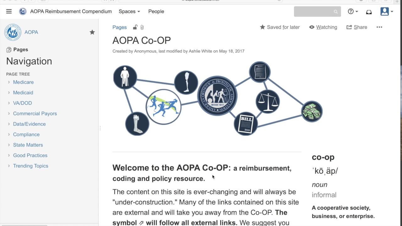 Co-OP | AOPA – AMERICAN ORTHOTIC & PROSTHETIC ASSOCIATION