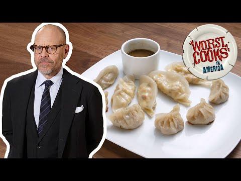 Alton Brown Makes Veggie Steamed Dumplings | Worst Cooks in America