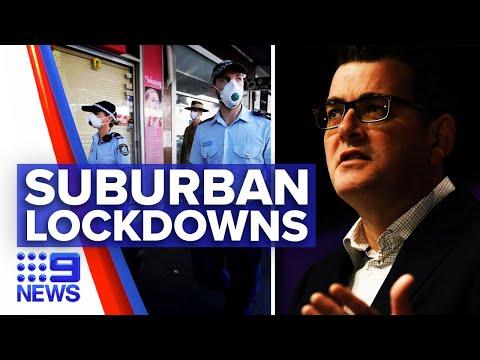 Coronavirus: Victorian hotspots in lockdown from Thursday   9 News Australia