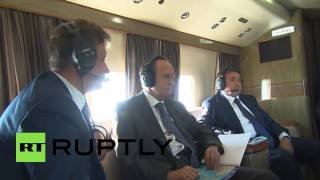Russia: Putin inspects the construction of the Kerch Strait bridge
