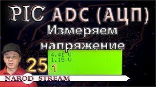 Программирование МК PIC. Урок 25. Модуль ADC (АЦП). Измеряем напряжение. Часть 1