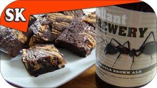 Chocolate  Peanut Butter Brownies - Beer Nut Brownies - Bullant Beers