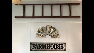$100 POTTERY BARN LADDER FOR UNDER $8 DIY Farmhouse Blanket Ladder