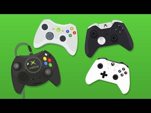 Evolution of Xbox Controllers (Animation)