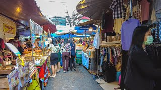[4K] Bangkok Walk - Silom Road, Soi 5 Market (ตลาดละลายทรัพย์ สีลม) Thailand 2021