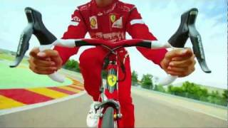 fernando alonso rides the new colnago for ferrari cf8 and cf9 mp4