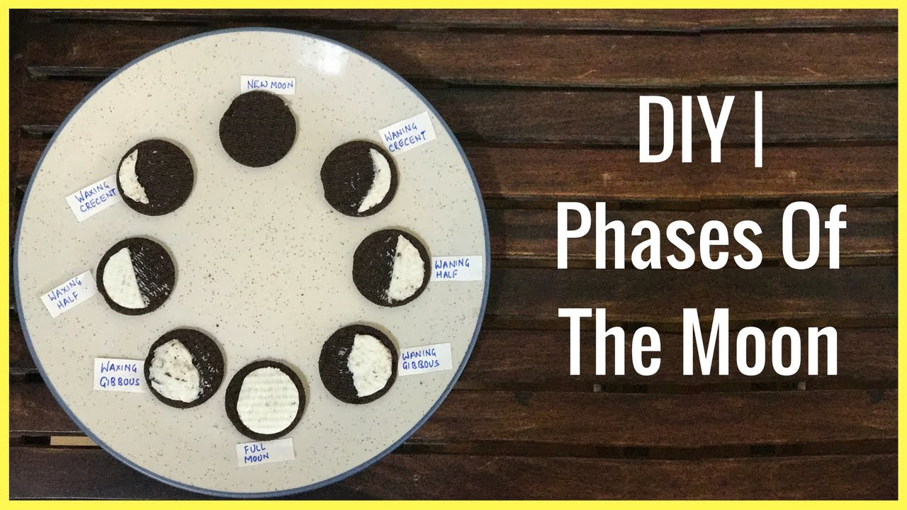 Diy Phases Of The Moon For Kids 3 Ways Youtube