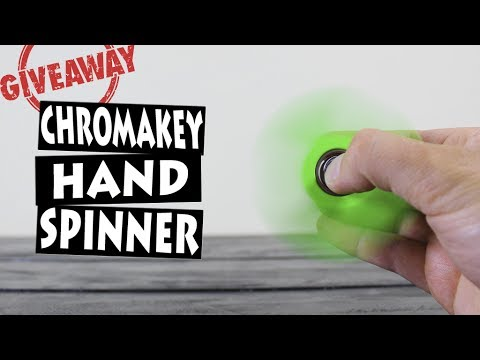 DIY HAND SPINNER CHROMA KEY   GIVEAWAY 10 FIDGET SPINNERS