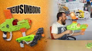 NERF Zombie Strike Wrathbolt & Revreaper - Mikeius Unboxing