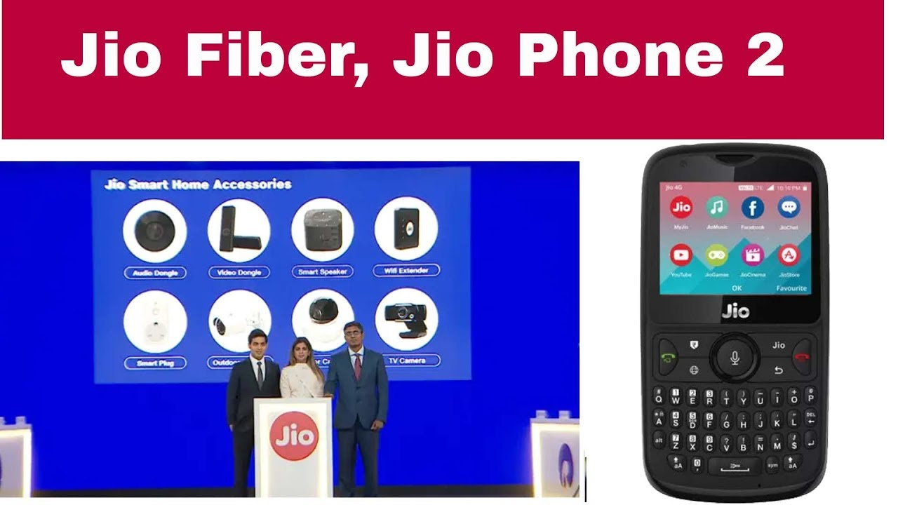 Image result for jio fiber and jio phone 2