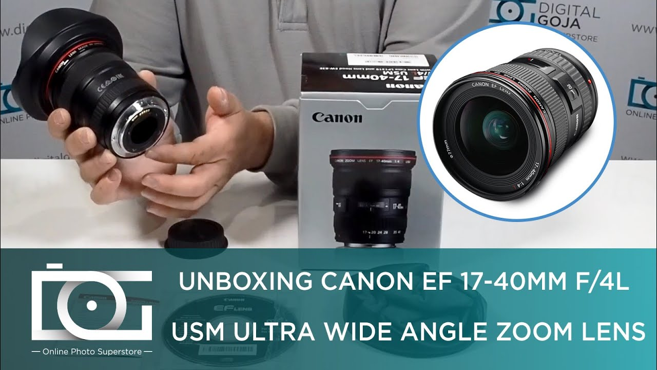 Canon EF 17-40mm f//4L USM Ultra Wide Angle Zoom Lens for Canon SLR Cameras