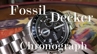 Fossil Decker Chronograph : First Look at Fossil