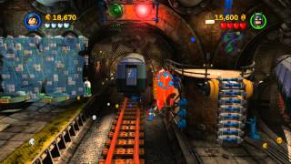 LEGO Batman 2 DC Super Heroes Walkthrough - Part 9 - Underground Retreat (Wii U, Xbox 360, PS3)