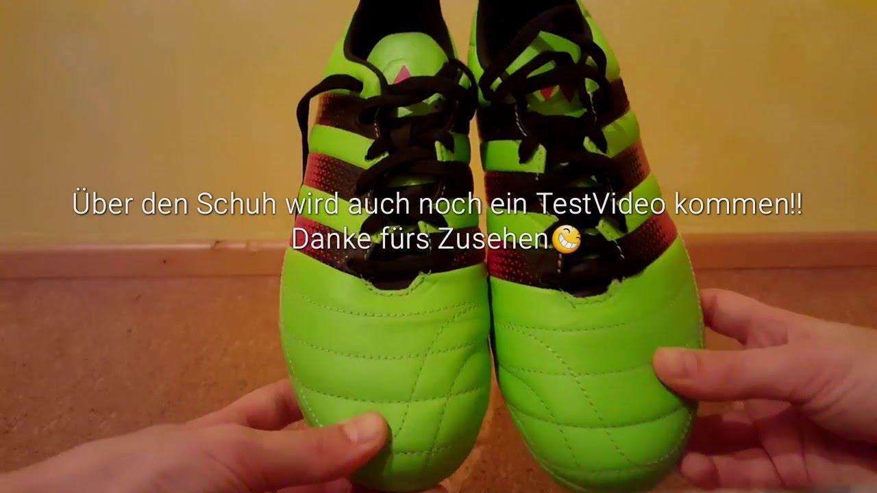 Unboxing the new Adidas Ace 16.3 AGFG Leather Grün  JoniTube