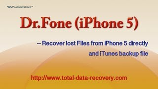 Data Recovery for iPhone | Directly Recover Data from iPhone 5 and iTunes backup