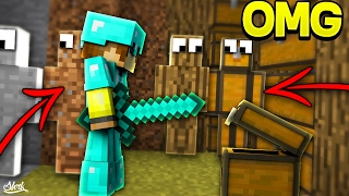 KİMSE BENİ GÖREMİYOR! - Minecraft TROLL SKYWARS! (I AM STONE CHALLENGE!)