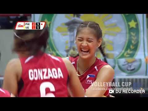 Philippines VS. Vietnam Asian Women Volleyball .Set 3. Feb. 21, 2019..