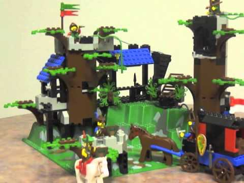 lego 6079 dark forest fortress time lapse build and. Black Bedroom Furniture Sets. Home Design Ideas