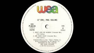 Phil Collins - Don't Lose My Number (Extended Mix) 1995