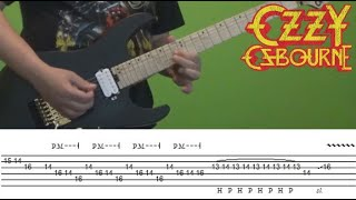 Guitar Lesson - Crazy Train (solo) with tabs