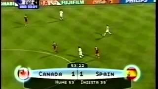 Canada v. Spain 2003 FIFA World Youth Championship QF - Iain Hume