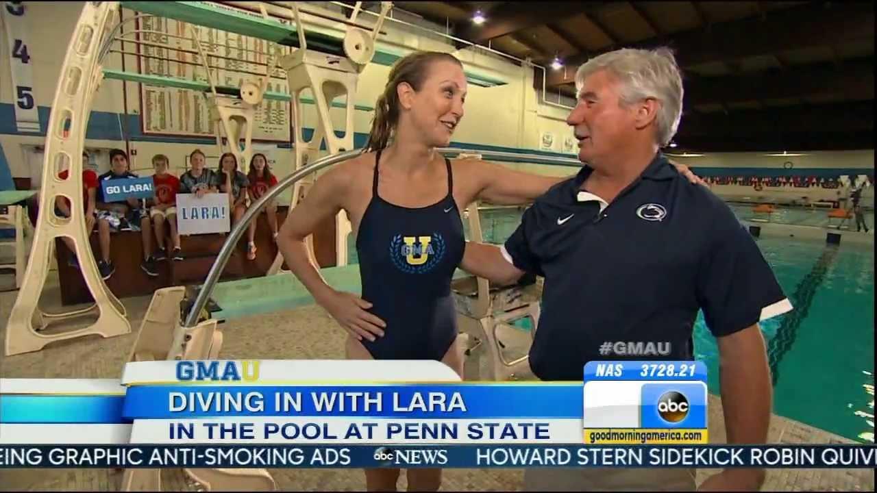 lara spencer swimsuit diving long legs good morning lara spencer swimsuit diving long legs good morning america