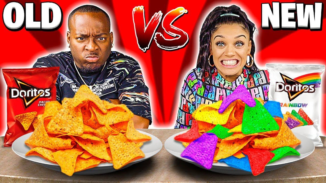 NEW VS OLD FOOD CHALLENGE!!