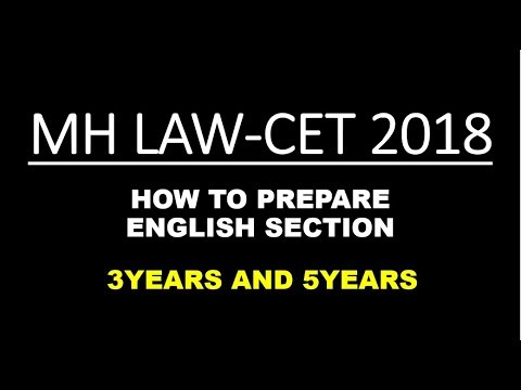 MH LAW-CET 2018 - HOW TO PREPARE ENGLISH SECTION