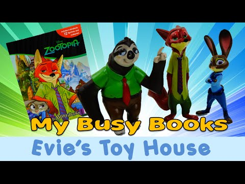 ZOOTOPIA MY BUSY BOOKS Comes w/ 12 Cake Cupcake Toppers PVC Figures and Playmat