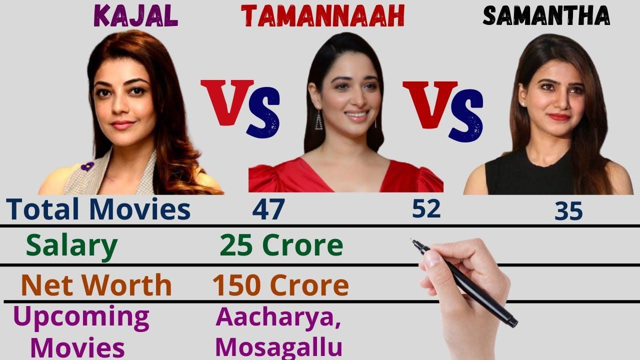 Download Kajal Aggarwal VS Tamannaah Bhatia VS Samantha Akkineni Latest Comparison 2021