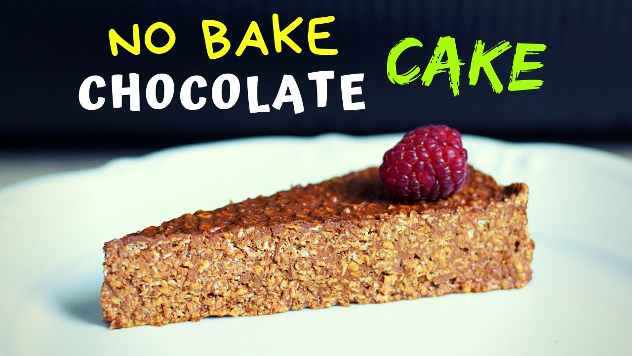 3 Ingredient No Bake Chocolate Cake (with oats!)