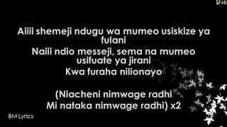 Mrisho Mpoto Ft Harmonize_Nimwage Radhi (Official Lyrics)