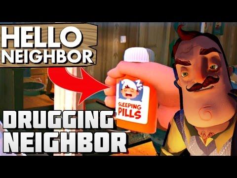 POISONING & SHOOTING NEIGHBOR!! | Hello Neighbor Alpha 2 Gameplay