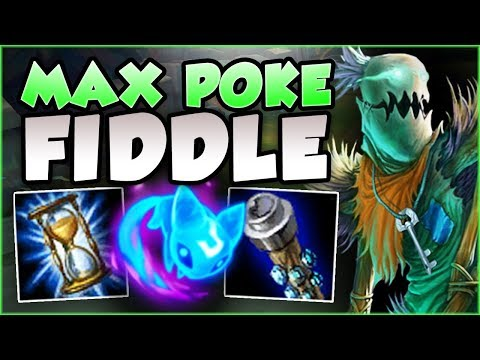 TILT THE ENEMY WITH THIS MAX POKE FIDDLESTICKS TOP BUILD! FIDDLESTICKS GAMEPLAY! - League of Legends