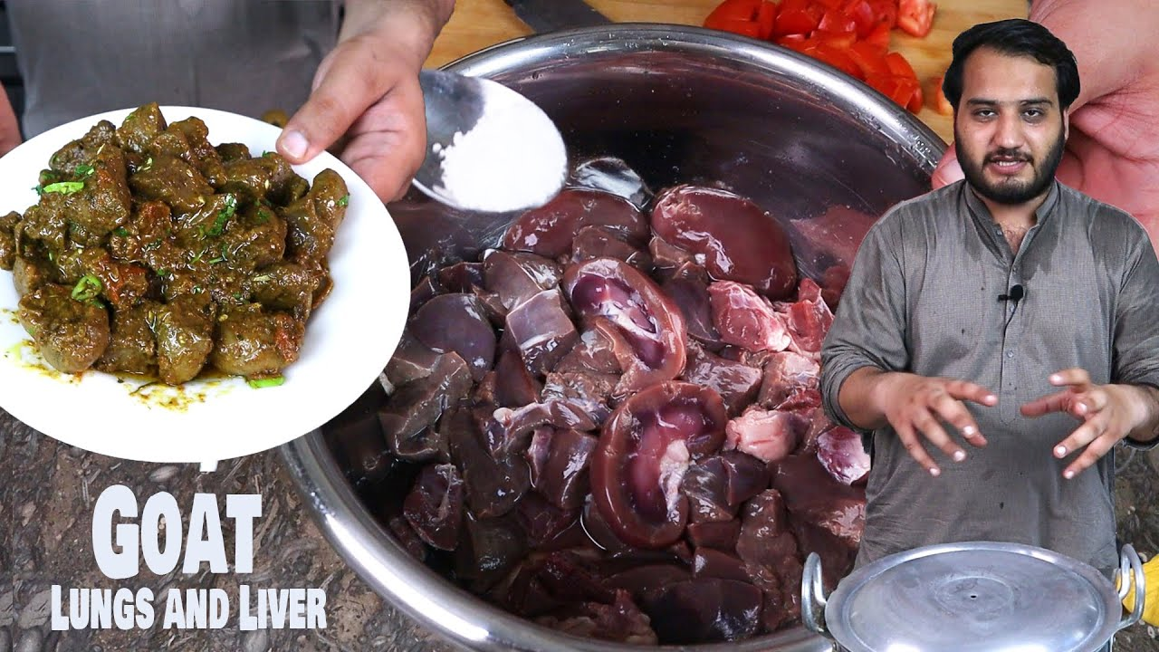 Smell Free Kaleeji and Phiphra Masala Recipe (Lamb Liver and Lungs)