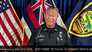 Maui Police Chief Video Message on Crisis Support