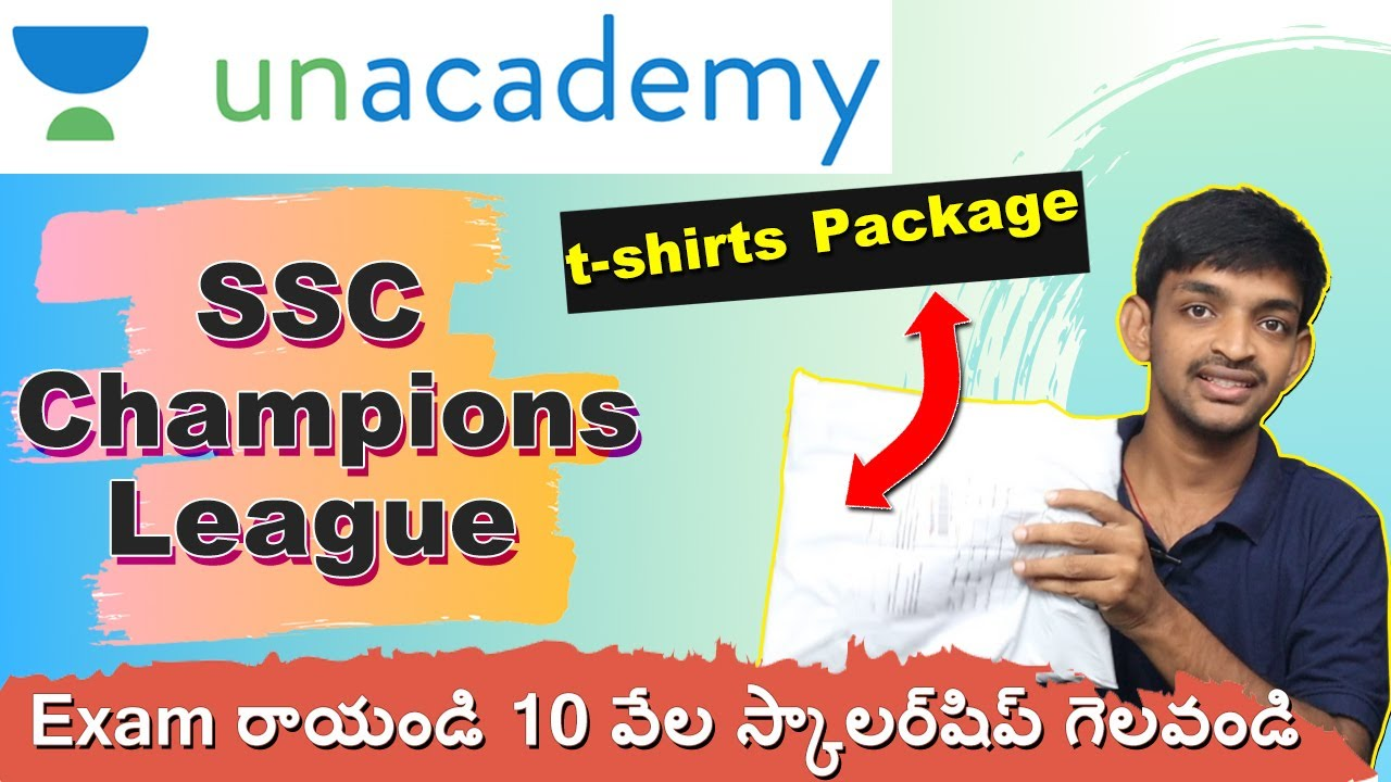 Unacademy t-shirts Opening    SSC Champions League    Online Exams For Central Government Jobs