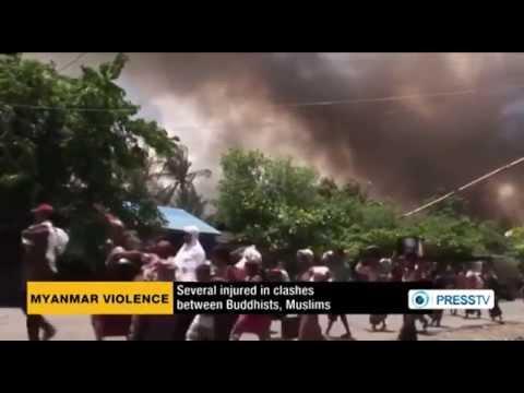 Rohingya Muslims attacked in Myanmar
