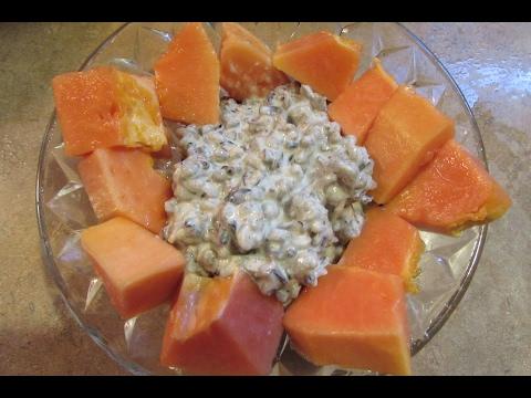 Wild Rice Pudding w/ Papaya