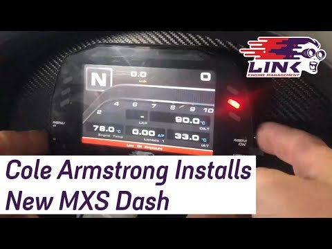 LINK LIFE | Cole Armstrong Installs New MXS Dash
