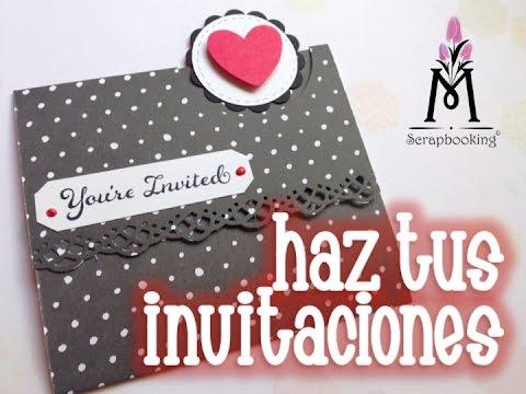 TUTORIAL Invitación Scrapbook/Invitation - YouTube