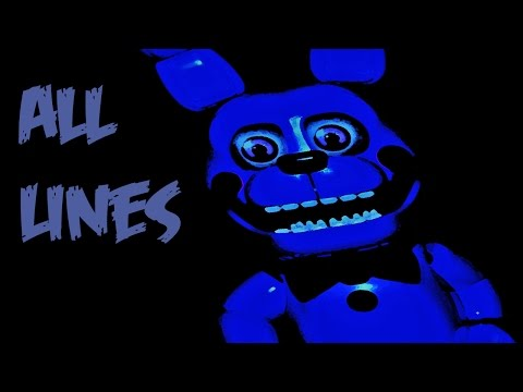 Bonnie Puppet (BonBon) | All Voicelines with Subtitles | FNaF Sister Location