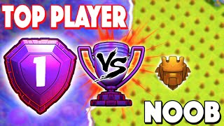 Clash of Clans - TOP PLAYER VS NOOB! Legend Attacks Me + NEW RECORD!