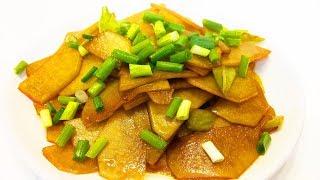 Китайская кухня. Жареная картошка по-китайски. 糖醋土豆