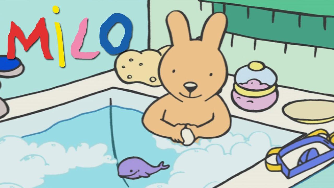 Milo - Bath time   Cartoon for kids - YouTube