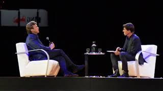 John de Mol wordt geïnterviewd door Twan Huys op BusinessBoostLive 2017