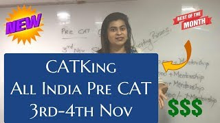 CATKing Pre CAT 2019 Now for All India Students