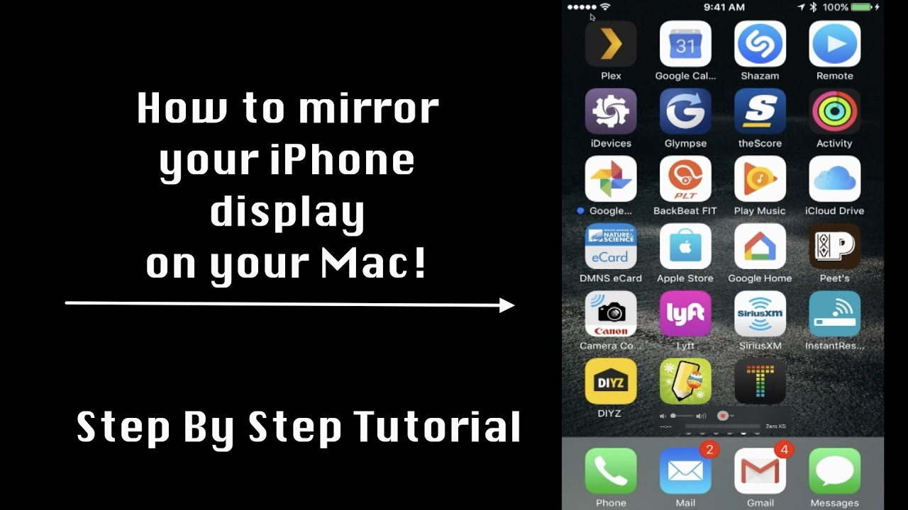 how to get iphone display on mac
