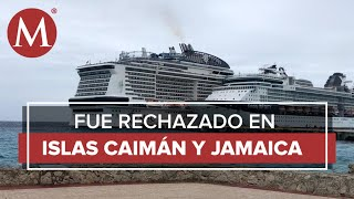 Crucero con posible coronavirus ya está en muelle de Cozumel